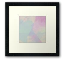 Hydrangea Series Watercolor Abstract Pattern Framed Print