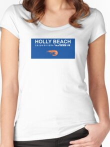 Holly Beach - Cajun Riviera. Women's Fitted Scoop T-Shirt