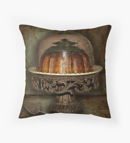 The Cake Plate Throw Pillow