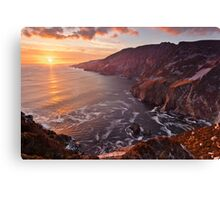 Setting Sun At Slieve League Canvas Print