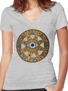 Oblivion Mages Guild Women's Fitted V-Neck T-Shirt