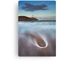 Rock On The Beach Canvas Print