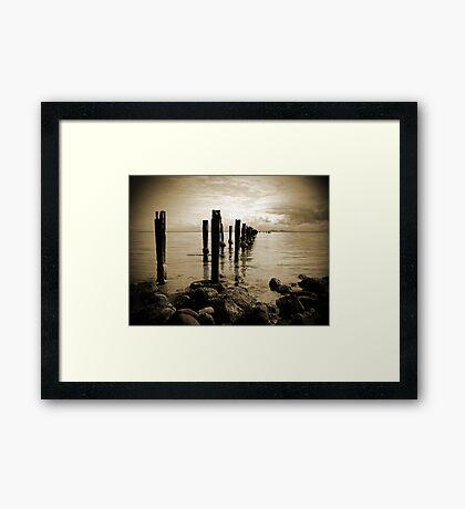 Old Pier Framed Print