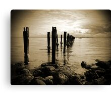 Old Pier Canvas Print