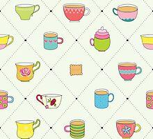 Happy tea by Stephanie Komen