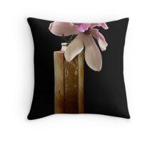 Magnolia in Pottery Vase  Throw Pillow