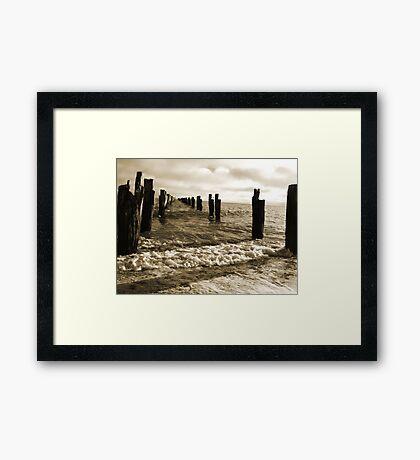Old Pier near Clifton Springs Framed Print