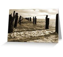 Old Pier near Clifton Springs Greeting Card