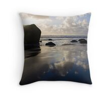 Elephant Rock, Oakura Beach Throw Pillow
