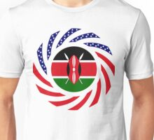 Kenyan American Multinational Patriot Flag Series Unisex T-Shirt