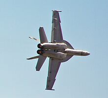 F/A-18 Hornet High G Turn by Henry Plumley
