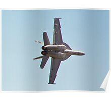F/A-18 Hornet High G Turn Poster