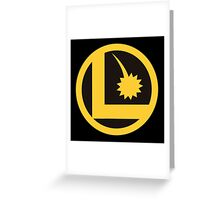 Legion of Super-Heroes Logo Greeting Card