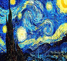 Starry Night - Vincent Van Gogh by IntWanderer