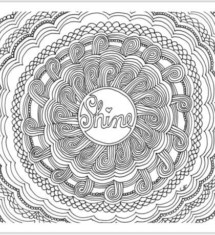 Shine Zentangle Flower Sticker