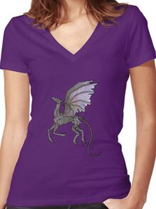Thestral #3 Women's Fitted V-Neck T-Shirt