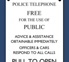 TARDIS Door Sign Sticker