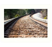 Summer Tracks Art Print