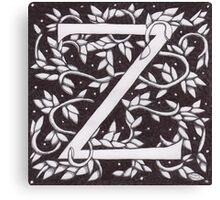 "Art Nouveau ""Z"" (William Morris Inspired) Canvas Print"