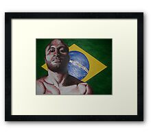 brazil anderson silva Framed Print