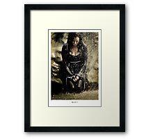 Mary McDonnell - BSG THROW PILLOW Framed Print