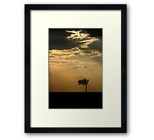 Sunset Over Masai Mara, Kenya Framed Print