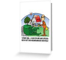 topiary man Greeting Card