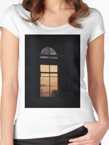 Twilight window  Church,-  Magilligan County Derry Ireland Women's Fitted Scoop T-Shirt