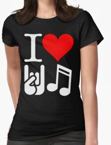 I Love Rock N Roll  Womens Fitted T-Shirt