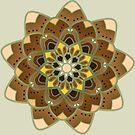 tan and gold mandala by resonanteye
