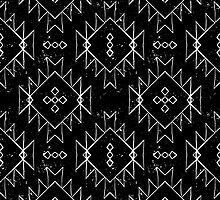 Navajo tribal ornament in b/w by tukkki