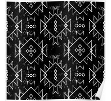 Navajo tribal ornament in b/w Poster