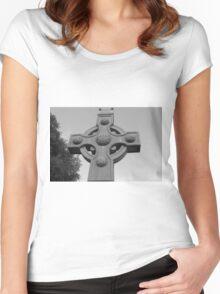Celtic Cross Gartan Donegal Ireland Women's Fitted Scoop T-Shirt