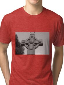Celtic Cross Gartan Donegal Ireland Tri-blend T-Shirt
