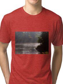 Misty Morning In Wisconsin Dells Tri-blend T-Shirt