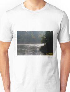 Misty Morning In Wisconsin Dells Unisex T-Shirt