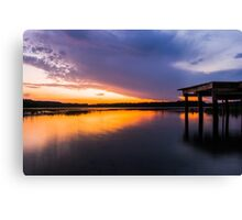 Fire at Sunset Canvas Print