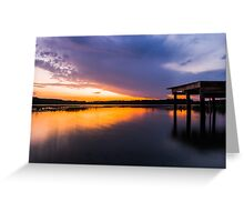 Fire at Sunset Greeting Card