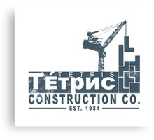 Tetris Construction Co. Canvas Print