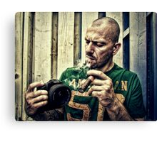 Smoker with Pentax  Canvas Print
