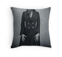Amanda Tapping - Silver Series Spiral Notebook! Throw Pillow