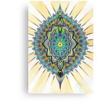 green mandorla, mandala Canvas Print