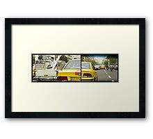 Just Chillaxing in Tehran Traffic Framed Print