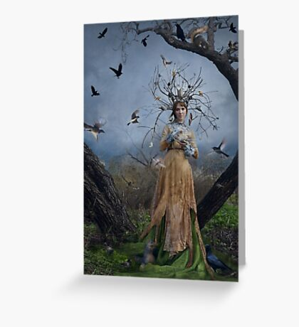 The Court Of The Dryad Queen Greeting Card