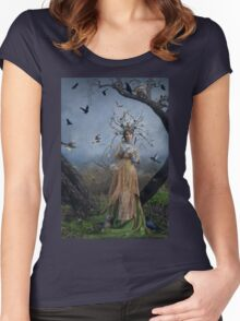 The Court Of The Dryad Queen Women's Fitted Scoop T-Shirt