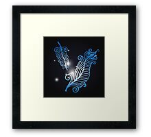 Shining feathers Framed Print