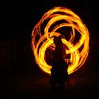 Fire Twirling With Poi by kimathy