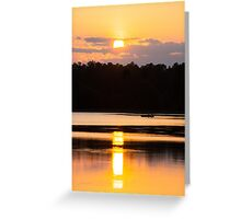 A Day on the Lake Greeting Card
