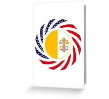 Catholic Murican Patriot Flag Series Greeting Card