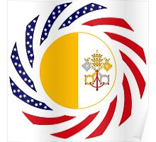 Catholic Murican Patriot Flag Series Poster